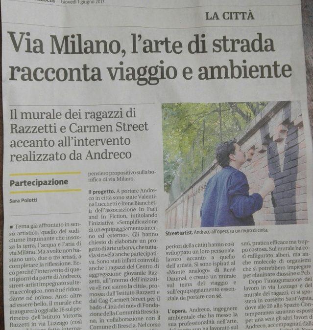 INAUGURAZIONE MURALE REALIZZATO DALL'ARTISTA ANDRECO